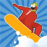 下雪滑雪板大师