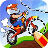 手画摩托车